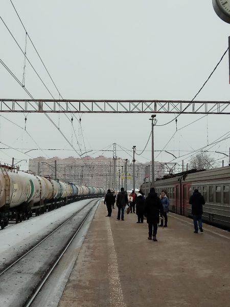 На вокзале, г. Лобня
